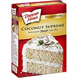Duncan Hines Signature Cake Mix, Coconut Supreme, 15.25 oz (Pack of 6)