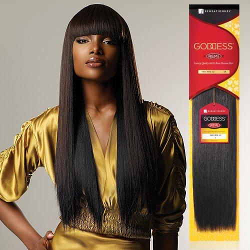 "Remi Human Hair Weave Sensationnel Original Goddess Yaki 8"" (1B)"