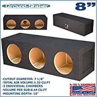 8 TRIPLE SEALED SPEAKER SUB BOX SUBWOOFER ENCLOSURE GROUND-SHAKER