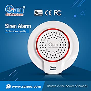 Neo Coolcam sirena – Home automatización sirena alarma Plug & Play en 868,4 MHz