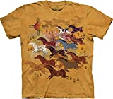 The Mountain Men's Horses and Sun T-Shirt, Yellow, Small
