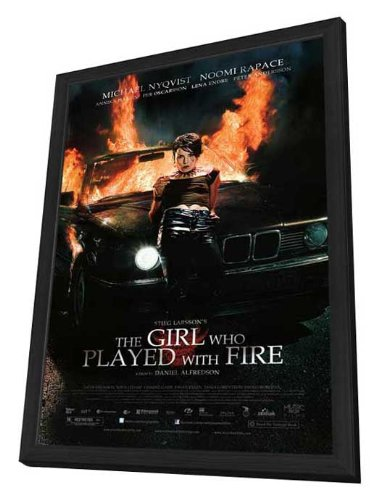 The Girl Who Played with Fire - 11 x 17 Framed Movie Poster