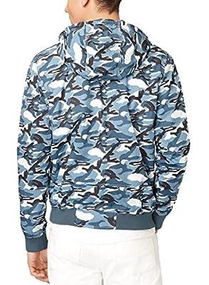 Calvin Klein Stargazer Mens Hoodie Blue Cammy Bomber Jacket XX-Large