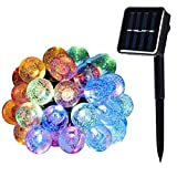 WishWorld Solar String Lights, 21ft 30LEDs Waterproof Fairy Globe Lights Decorative Lighting for Garden, Outdoor, Patio, Lawn and Holiday Decorations(Multi Color)