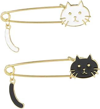 Frauen Mode Kristall Strass Legierung Tier Katze Brosche Pins