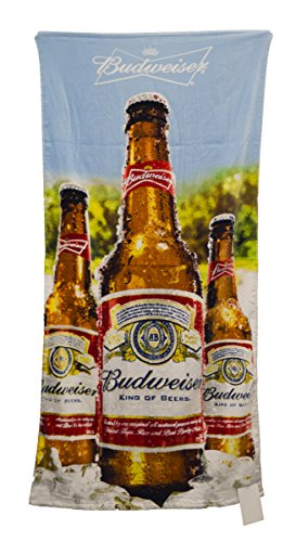 budweiser-blue-sky-bottles-beach-towel-30-by-60