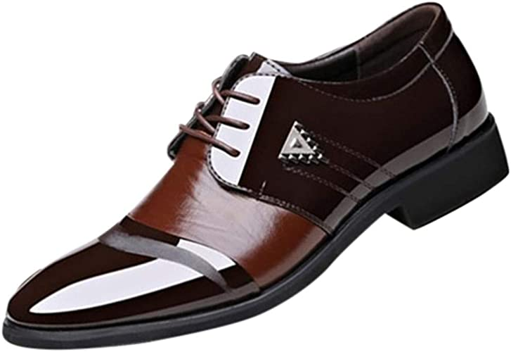 Magiyard Chaussures Mocassins Homme Chaussure Pointu Homme Chaussures Homme De Ville en Cuir Chaussures Homme Business Chaussures Mariage Homme