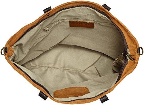 CTM bolso de mano para mujer de piel suave y genuina hecho en Italia - 33x26x13 Cm Naranja (Cuoio)