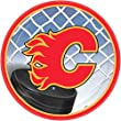"Calgary Flames Lunch Plates NHL Hockey Sports Party Disposable Tableware, Paper, Round, 9"", Pack of 8."
