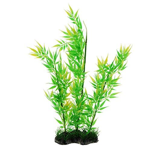 Bamboo Fish Plants - Saim Aquarium Decorations Green Bamboo Decorative Plastic Plants Ornament for Fish Tank