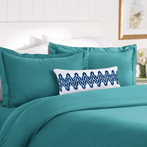 Elegant Comfort Best, Softest, Coziest Duvet Cover Ever! 1500 Thread Count Egyptian Quality Luxury Super Soft WRINKLE FREE 3-Piece Duvet Cover Set, Full/Queen, Turqouise (Duvet Cover Teal)