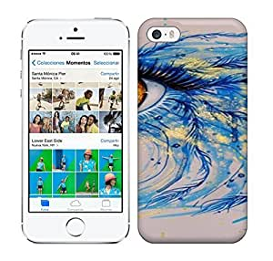 Best Power(Tm) HD Colorful Painted Watercolor Blue Feather'S Eyes Hard Phone Case For Iphone 5/5S by ruishername