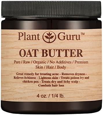 Oat Body Butter 4 oz. 100% Pure Raw Fresh Natural Cold Pressed. Skin Body and Hair Moisturizer, DIY Creams, Balms, Lotions, Soaps.