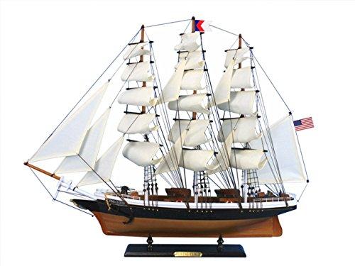 Hampton Nautical Wooden Flying Cloud Tall Model Clipper Ship, - Flying Cloud Gifts