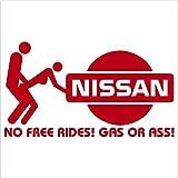 nissan murano decal - No Free Rides Decal for NISSAN 200 240 280 SX VERSA ARMADA MURANO ALTIMA 300ZX TURBO SENTRA SE-R 240 SX 350Z 240sz GT-R 350Z 370Z NISMO MAXIMA Pathfinder Titan Frontier Xterra (6