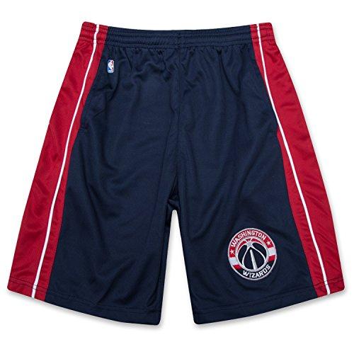 fan products of NBA Boys Athletic Sports Birdseye Shorts With Elastic Waistband and Logo Washington Wizards Navy Large