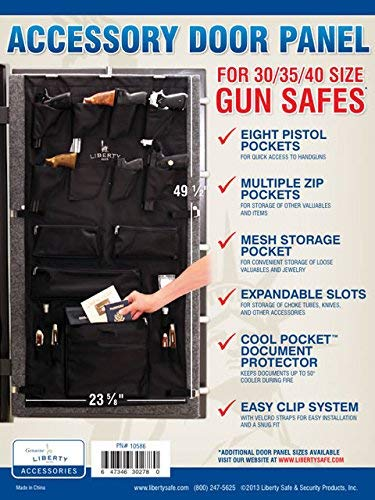Liberty Safe Gun Safe Door Panel Organizer for Holding Pistols and Important Documents -- 30-35-40 Size (23 5⁄8