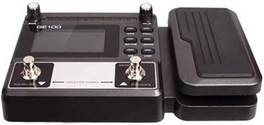 Procesador de efectos de guitarra Pedal de efecto de guitarra Pedal de efecto múltiple de guitarra con 23 sonidos de manejo, 7 simuladores de amplificador, 40 ritmos de batería y 10 ritmos de metrónom