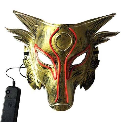 Scary As Hell Wolf Mask - Amosfun Halloween Wolf LED Mask Wolf