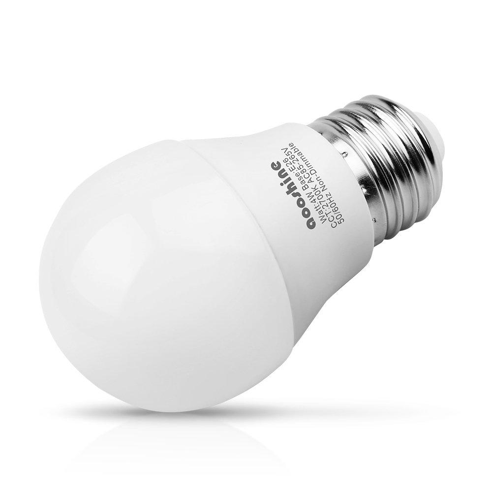 A15 Warm Pack of 6 6 E26 Medium Screw Base 400 Lumens A15//G45 Shape Decorative Edison Home Lighting Non-Dimmable Aooshine Di Globe 40 4 Watt Soft White 2700K LED Bulb