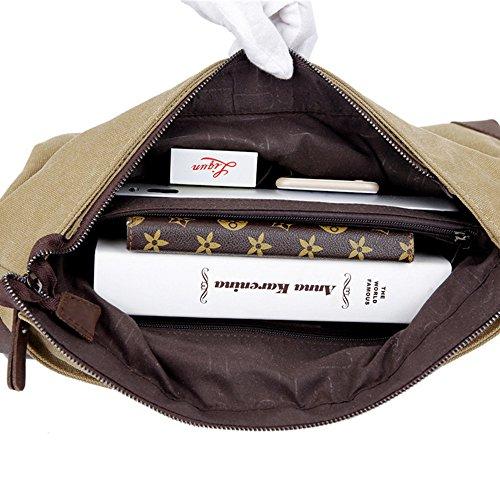 For Work Canvas Man Bags Messenger Bag Business Men's Purse Travel Casual Shoulder Unisex Crossbody qwBI7Pn