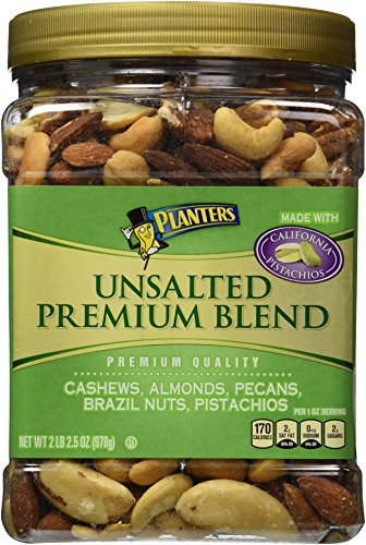 Planters Unsalted Premium Blend Nuts, 34.5 Ounce
