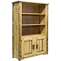 Montana Woodworks MWGCBC Glacier Country Collection Bookcase with Storage