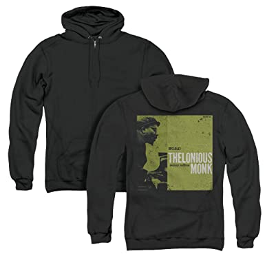 6061dea9 Thelonious Monk Work Unisex Adult Zipper Hoodie, Back Print, Small Black
