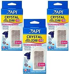 (3 Pack) API Crystal Bio-Chem Zorb Internal Filter Cartridges, Size 10, 2 Filters each