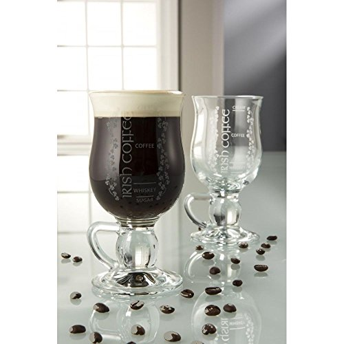 Belleek Pottery Galway Crystal Irish Coffee Glasses, 5.7-Inch, Clear, Set of 2 from Belleek Pottery