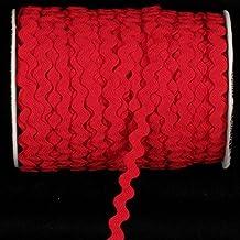 "Red Woven Edge Rick-Rack Craft Ribbon 0.25"" x 55 Yards"