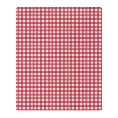 Outdoor Quilt Patterns (CafePress - Red And White Gingham Plaid Pattern - Soft Fleece Throw Blanket, 50