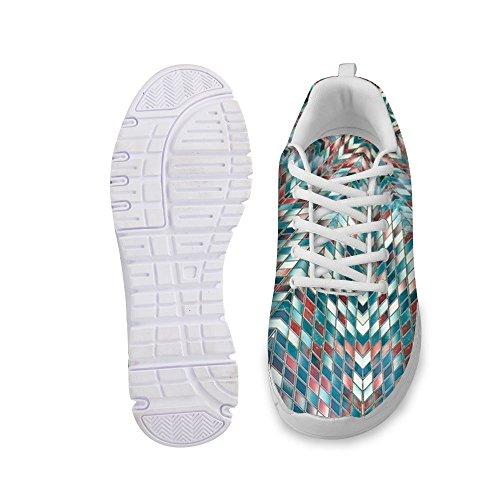 For U Design Stilige Kvinners Mote Sneaker Uformell Komfortabel Atletisk Gang Joggesko Grønne