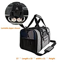 Eugene's Travel Pet Carrier Top Premium Quality. Airline Approved. Perfect for small dogs and cats. Under Seat Compatible. Use as dog carrier, cat carrier, travel carrier for small animals.