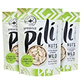 Cheap Pili Hunters Wild Sprouted Pili Nuts, Coconut Oil and Himalayan Salt, Keto, Paleo, Vegan, Low Carb – 5 oz. (Original, 5 oz. 3-Pack)