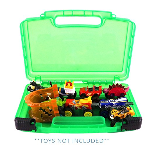Life Made Better Blaze Monster Truck Storage Carrying Case, Toy Organizer for Figure Playset and Accessories, Green (Best Car In Gta San Andreas)
