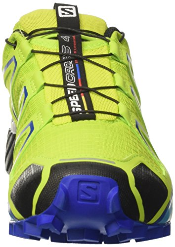 Salomon Speedcross 4, Zapatillas de Trail Running para Hombre Verde (Lime Green/Nautical Blue/Hawaiian Ocean)