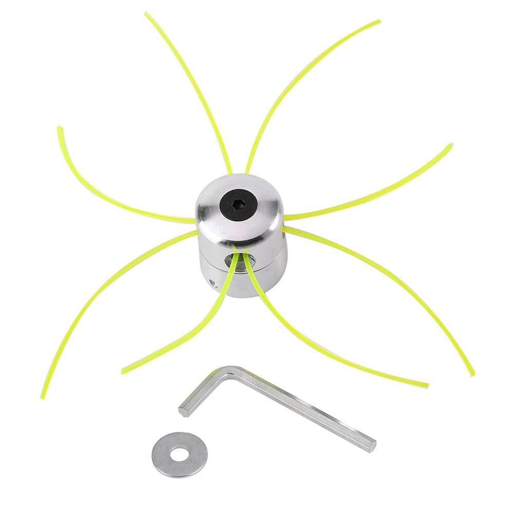 Cortador de Cabeza de Aluminio Universal Cabezales de Hierba Piezas de Repuesto para Cortacéspedes con Trimmer Línea