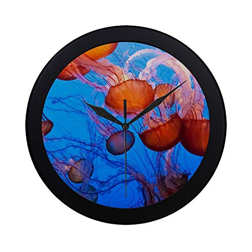 Modern Simple Chrysaora Fuscescens Is A Common Free Floating Scy Pattern Wall Clock Indoor Non-ticking Silent Quartz Quiet Sweep Movement Wall Clcok For Office,bathroom,livingroom Decorative 9.65 ()