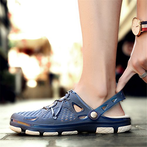 Summer Slides Breathable Sandals Non Beach Shower Sport Clogs Walking Slippers Shoes Outdoor Techcity Blue Unisex Garden Slip Pool AqxzB