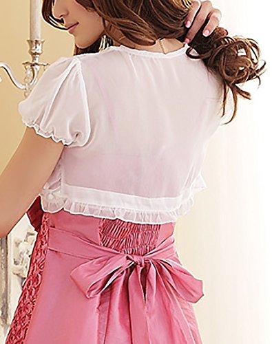 Gala O Donna Bianco Manica De Coprispalle Corta Come Elegante Chiffon Per Adatto Bolero Cardigan Matrimoni Di Serate Coprispalle PTddxn74