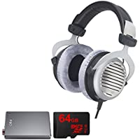 BeyerDynamic DT 990 Premium Headphones 600 OHM with Bundle Includes, FiiO E12 Mont Blanc Portable Headphone Amplifier & Lexar 64GB micro SD High-Performance Memory Card