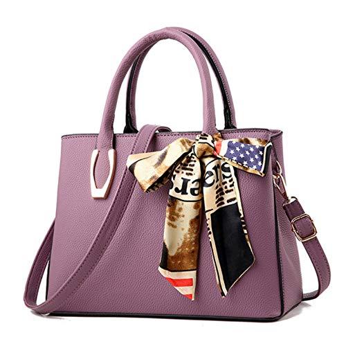 Bandoulière Pu Àmain sac Correspondance Purple Femme Mzdpp Décor Echarpes All Mode Femmes Sac Bqwfg