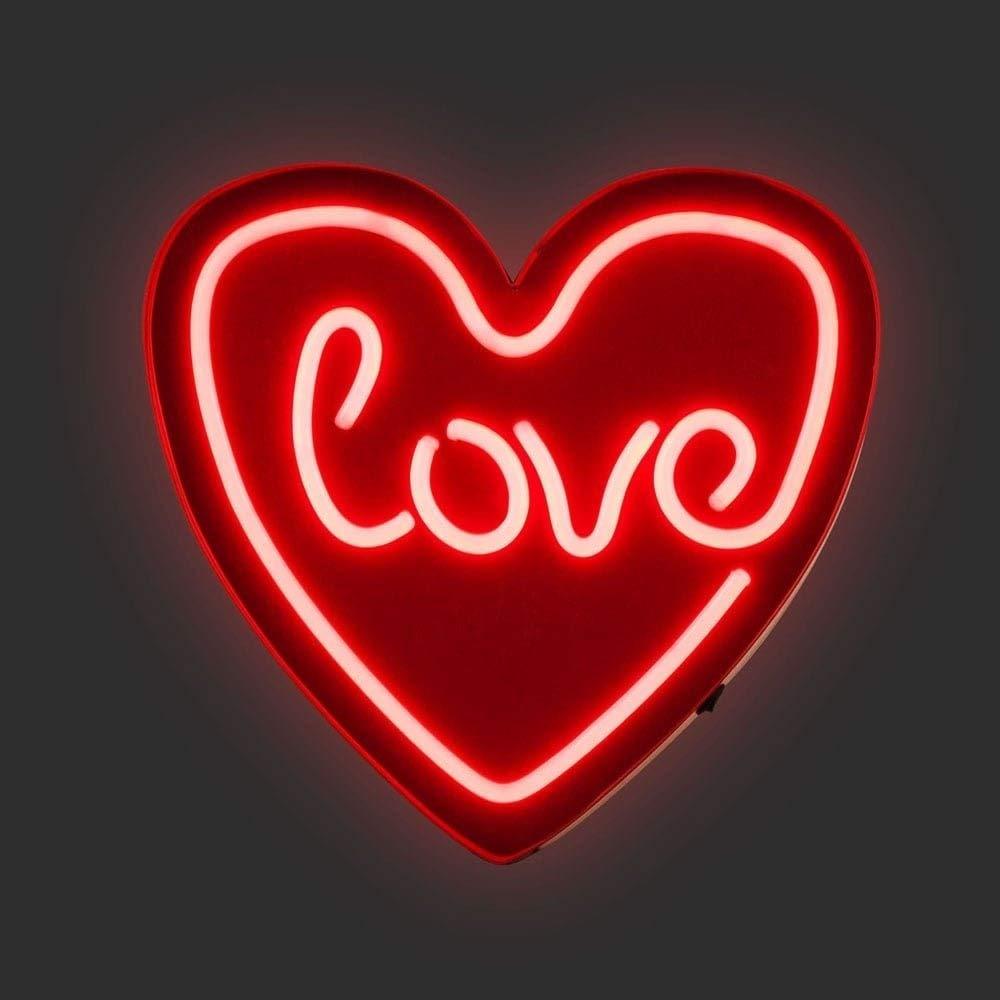 Cult Living Love Heart LED Neon Sign Wall Light, ROT