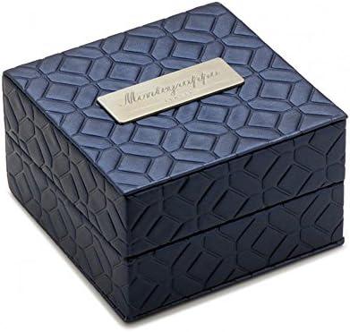 Montegrappa Ceinture SAFFIANO noir/bleu double face dim. 120 réglable