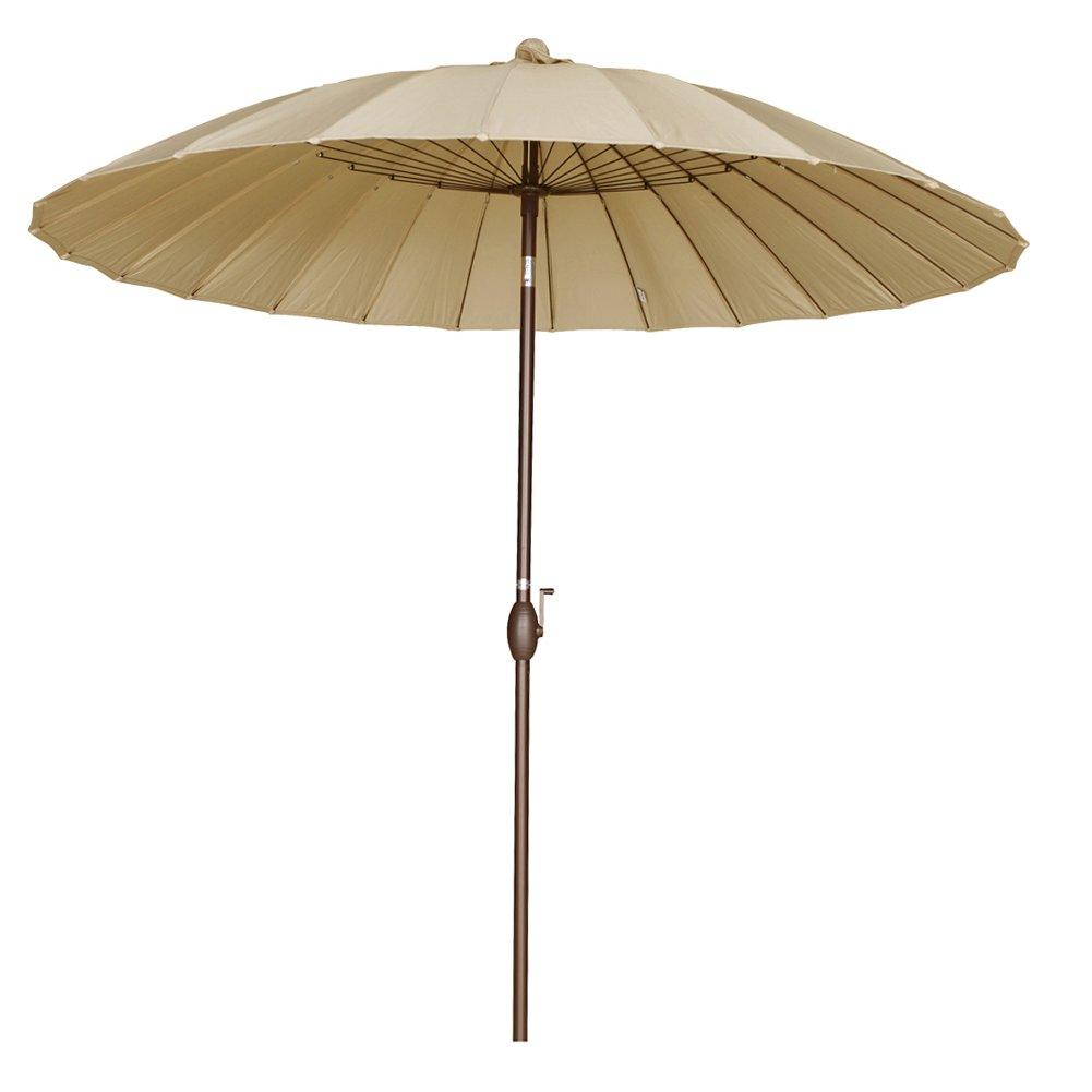 Steel Wire For Umbrella : Round parasol patio umbrella w push button tilt