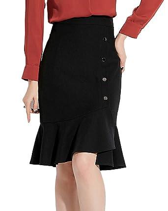 Shengwan Falda Cortos Mujer Slim Fit Cintura Alta Bodycon Faldas ...