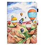 iPad 9.7 Case - Candy-Cases(TM) PU Leather Stand Folio Flip Smart Cover [Auto Wake Sleep] Wallet Shell for Apple iPad Air iPad Air 2 iPad 9.7 inch 2017 2018 Tablet (Hot Air Balloon)