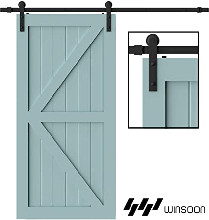 SLIDING BARN DOOR PACKAGE 6/' TRACK TROLLEYS  /& WALL BRACKETS  USA HARDWARE