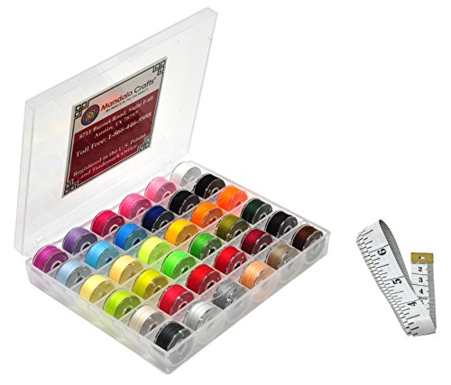und Embroidery Sewing Thread Bobbin Case Kit for Brother Babylock Singer Machine (36 Colors) (Embroidery Sewing Machine Reviews)